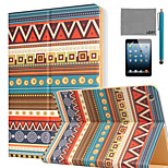 LEXY® Tribal Totem Pattern PU Leather Flip Stand Case with Screen Protector and Stylus for iPad Mini 4