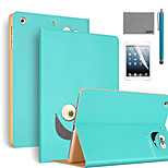 LEXY® Big Eyes Pattern PU Leather Flip Stand Case with Screen Protector and Stylus for iPad Mini 1/2/3