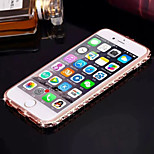 Elegant Decorated with Diamond 3D Frame Acrylic All Backplane Metal Hard Case for iPhone 6 Plus(Assorted Colors)