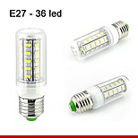 1 pcs E26/E27 10W 36SMD5730 800LM Warm White / Natural White Decorative Corn Bulbs 110V/220V