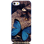 Blue Butterfly Pattern Blu-ray IMD Cell Phone Case for iPhone 5/5S