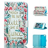 Morning Glory Design PU Full Body Case with Stand with Card Slot for iPhone 5/5S