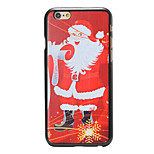 Christmas Style Santa Smiling Pattern PC Hard Back Cover for iPhone 6