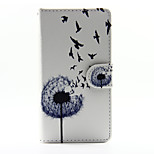 Dandelion with Swallow PU Leather Full Body Case with Stand for Huawei Ascend P8 Lite