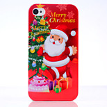 Christmas Old People UV Varnish PC Material Christmas Phone Case for iPhone 4 /4S