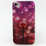 Love Dandelion Painting Pattern TPU Soft Case for iPhone 4/4S
