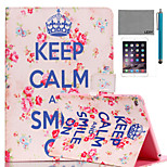 LEXY® Keep Calm Pattern PU Leather Flip Stand Case with Screen Protector and Stylus for iPad Mini 1/2/3