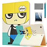 LEXY® Blond Boy Pattern PU Leather Flip Stand Case with Screen Protector and Stylus for iPad Air 2/iPad 6