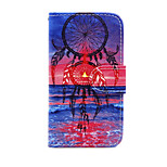 Printed Sea and Colorful Feather PU Leather Wallet Full Body Case with Stand for Nokia Lumia 630/635