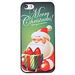 Christmas Style Green Merry Christmas Pattern PC Hard Back Cover for iPhone 5/5S