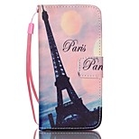 Transmission Tower Pattern PU Material Card Case for iPhone 6/6S