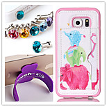 PU+TPU Stent Painting Pattern Wallet Mobile phone for Samsung Galaxy S6