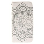 Big White Flower Design PU Leather Full Body Case with Card Slot and Stand TPU Cover for iPod Touch 5