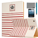 LEXY® Crown Pattern PU Leather Flip Stand Case with Screen Protector and Stylus for iPad Mini 4