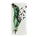 TPU Pattern Back Cover Mobile Phone Protection Shell for Huawei Ascend P7/P8/P8 Lite
