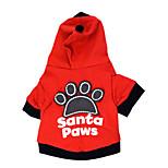 Gatti / Cani Felpe con cappuccio / T-shirt Rosso / Nero Primavera/Autunno Floral / botanico Di tendenza, Dog Clothes / Dog Clothing-