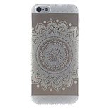 White Sunflower Style Transparent Soft TPU Back Cover for iPhone 5/5S