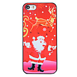 Christmas Style Red Santa Elk Pattern PC Hard Back Cover for iPhone 5/5S