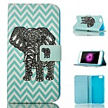 Elephant Pattern Card Stand PU Leather Protective Shell Case Cover for iPhone 6 / 6S