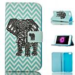 Tarjeta de modelo del elefante de pie cubierta de la caja cáscara protectora cuero de la PU para el iphone 6 / 6s