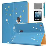 lexy® estivi stelle modello PU cuoio di vibrazione caso del basamento con la protezione dello schermo e lo stilo per ipad mini 1/2/3