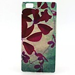 Red Leaves Pattern TPU Material Phone Case for Huawei P8 Lite