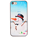 Christmas Style Carrot Nose Snowman Pattern PC Hard Back Cover for iPhone 5/5S