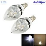 Ampoules Bougie Décorative Blanc Chaud / Blanc Froid YouOKLight 2 pièces C35 E14 3 W 3 LED Haute Puissance 280 LM AC 85-265 V