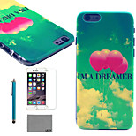 LEXY® Sky Balloon Pattern Hard PC Back Case with 9H Glass Screen Protector and Stylus for iPhone 5/5S