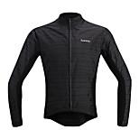 SANTIC Cycling Rain Jacket/Waterproof jacket/Wind Jacket/Raincoat  Long-Sleeve Black
