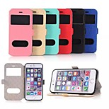 Window Flip Case Support Oracle pu Mobile Phone Shell for iphone6/6S Assorted Colors