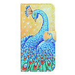 Peacock Pattern Diamond Style PU Leather and TPU Full Body Case for iPhone 6/6S