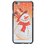 navidad muñeco de nieve patrón estilo nevando pc contraportada dura para el iphone 6 más