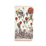 Balloon Flowers Pattern PU Leather Full Body Case with Card Slot and Stand for iPhone 5C