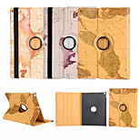 World Map 360⁰ Case Design Stand Function High Quality PU Leather Bag For iPad Pro(Assorted Color)