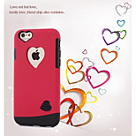 High Quality Heart-Shaped TPU+PC Cover for iPhone 6/6S (Assorted Colors)