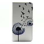Dandelion Face Design PU Leather Stand Case with Card Slot for Sony Xperia M2