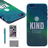 LEXY® Green Mist Mood Pattern Hard PC Back Case with 9H Glass Screen Protector and Stylus for iPhone 5/5S