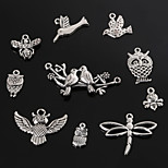 Beadia Antique Silver Metal Charm Pendants Dragonfly Butterfly Bee Bird &Owl DIY Jewelry Pendant