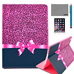 LEXY® Purple Leopard Pattern PU Leather Flip Stand Case with Screen Protector and Stylus for iPad Air/iPad 5