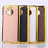 Fußballfadenlauf Leder Metall fdge Fall der rückseitigen Abdeckung für HTC m9 plus (Farbe sortiert)