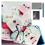 LEXY® Smile Sweet Pattern PU Leather Flip Stand Case with Screen Protector and Stylus for iPad Air 2/iPad 6