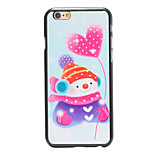 Christmas Style Snowman Heart-shaped Balloon Pattern PC Hard Back Cover for iPhone 6
