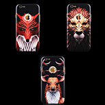 3D Relief Painting Metal Bumper Frame with PC Back Cover for iPhone 6 4.7 Inch Only