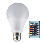 1 pcs E26/E27 12 W 1 Integrate LED 1000 LM RGB B Dimmable / Remote-Controlled / Decorative Globe Bulbs AC 85-265 V