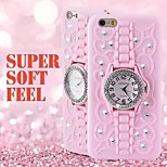 High Quality Watch Style with Stand Back Cover for iPhone 6/6S  (Assorted Colors)