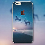 Scenery Deer Pattern TPU Material Phone Case for iPhone 6 Plus/6S Plus