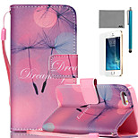 LEXY® Starry Sky Dandelion Pattern PU Full Body Leather Case with Screen Protector and Stylus for iPhone 5/5S
