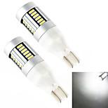 YOBO T15 30SMD 4014 10W 800LM White Light LED Bulb for Car Side Maker Lamp (2-Pack,DC 12-24V)