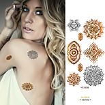Taty Flash Tattoo Removable Waterproof Gold Tattoo Metallic Temporary Tattoo Stickers Temporary Body Art Tatoo HC5035